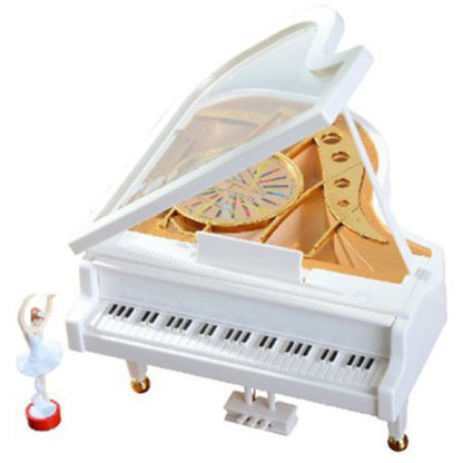 Classical Ballerina Dancing on a Piano Mechanical Music Box