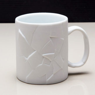 White Cracked Up Coffee Mug