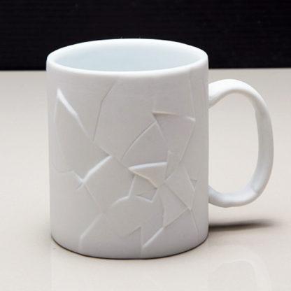 White Cracked Up Coffee Mug