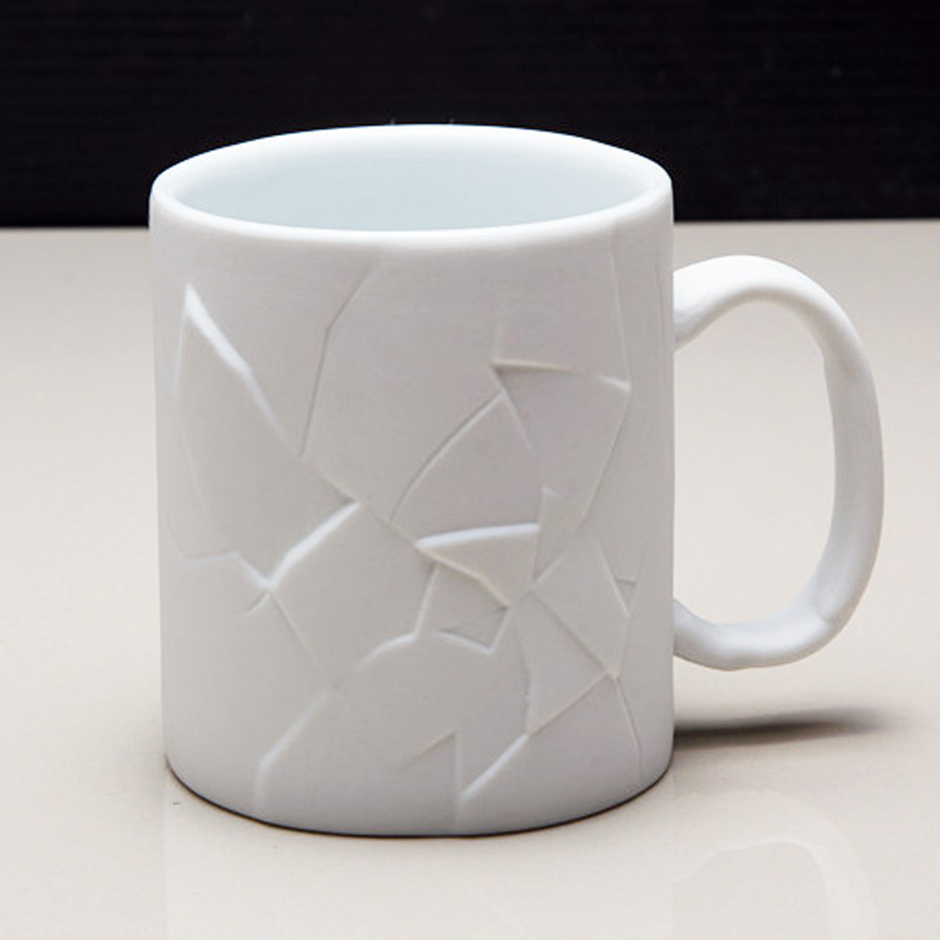 White Cracked Up Coffee Mug – Volps