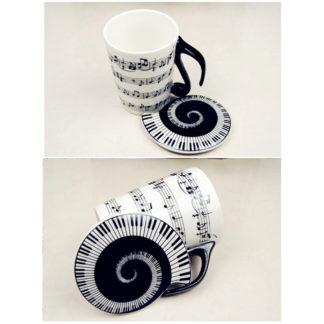 Musician Coffee Mug Musical Notes Design