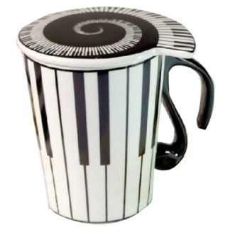 Musician Coffee Mug Piano Keys Design