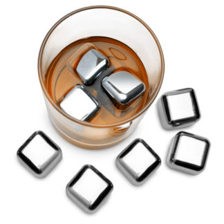 Set of 6 Stainless Steel Cubes