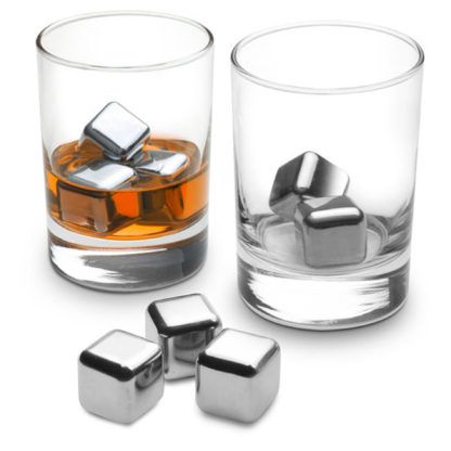 Set of 6 Stainless Steel Cubes (Ice Cube Replacements)